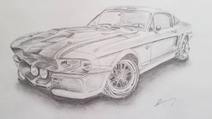 #mustang #shelby #drawings #sketch #sketchstyle #car