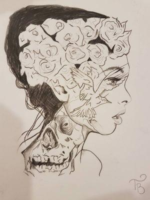 #woman #womansface #sketch #sketchstyle #drawings