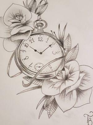 #clock #clockwork #flowers #sketch #sketchstyle #drawings