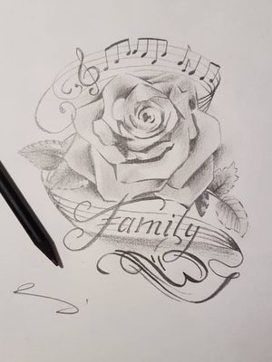 #family #rose #music #drawings #sketch #sketchstyle