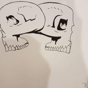 #skull #skulldrawing #skullart #sketch #sketchstyle #drawings
