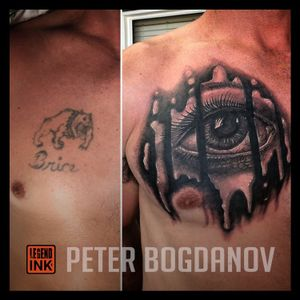 Cover up using iconic drip eye from artist Peter Bogdanov
