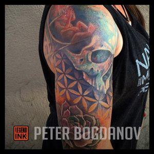 Skull, Succulent, Flower of Life, Scared Geometry.