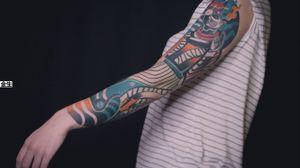 Healed sleeve . #金生 #bold #boldtattoos #tattoos #future #tattoo #aesthetic #neotats #taot #tattoorussia #spbtattoo #tatts #tattoomoscow #tattoogirl #татуспб #тату #skin #tattoos #tattooartist #tattoogirls #russiantattooartist #ta2 #irezumi #inkjunkeyz #painfulpleasures #armortattoo #handtattoos #blacksubmission #blackclaw