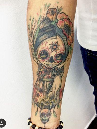 Dia de los muertos ..................................................... #kpo #kpobta #neiva #colombia #luxe #tattoocolombia #diadelosmuertos #tattoopro #ilustraciontattoo #avantgardetattoo #bogotá #latinoamericana #muerte
