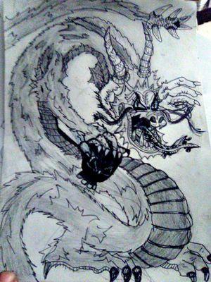 #dragon #blackgrey #japanese
