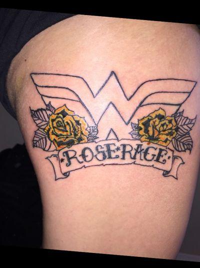 #wonderwoman #rose #traditional #outline #beginner #TattoosByDan