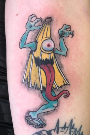 Did this colourful Kasa-Obake today for Harry 🌂 Done using @ezcartridgecouk @bishoprotary @fusion_ink @butterluxe_uk @saviourtattoosupplies #tattoo #kasaobake #yokai #colourtattoo #uktattoo #spirit #monster #heathenink #oldham #manchester #ezcartridgecouk #fusionink #bishopmagi #butterluxe_uk #saviourtattoosupplies #tattooartist