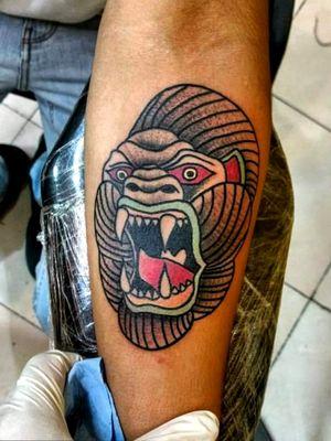 Gorilla🦍⚡👌 #traditionaltattoo #tattootraditional #GorillaTattoo