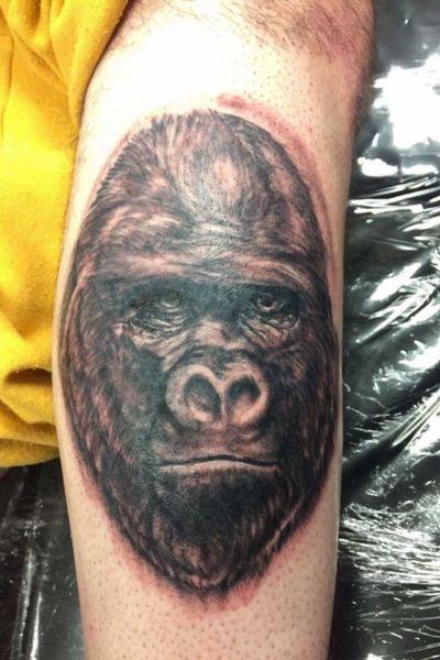 Harambe? #harambe #gorilla #animals #animal #legtattoo
