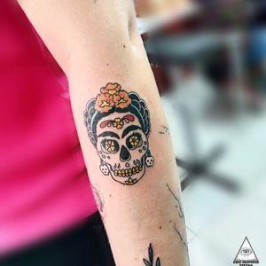 #mexicanskull #mexicantattoo #fridakahlo #caveiramexicana #colortattoo #tatuagemcolorida #inked #tattoo #tatuagem #skulltattoo #caveira
