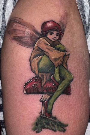 🍄managed to get another picture of this little fairy from yesterday, now 1 day into the healing process 🍄 Done using @ezcartridgecouk @fusion_ink @bishoprotary @butterluxe_uk @saviourtattoosupplies #tattoo #fairy #toadstool #colourful #tattooartist #uktattoo #skindeep #folklore #magic #ezcartridgecouk #fusionink #butterluxe_uk #bishopmagi #saviourtattoosupplies #heathenink #oldham #manchester