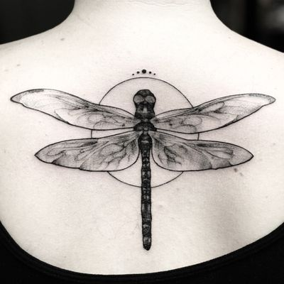 Sometimes tattoos can look simple but who cares, the importance is what it means for you. #dragonfly #dragonflytattoo #tattoolove #girlswithtattoos #meaning #sleevetattoo #feather #feathers #nature #artnouveau #tattoooftheday #blackandgrey #blackandgreyt