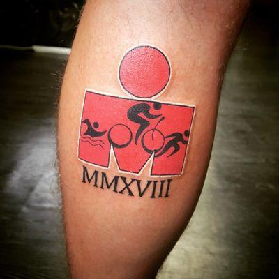 Ironman race tattoo #ironman #tattoo #triathlon #artist #irishtattoo #nikkicolltattooer