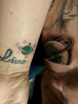 #Coupletattoos #saturn tattoos