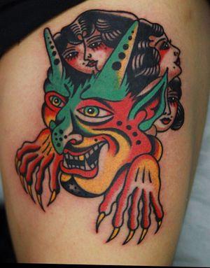 pick from flashbook demon tattoo