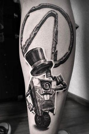 Claptrap tattoo #tatted #claptrap #tattooinrussia #tattoo2me