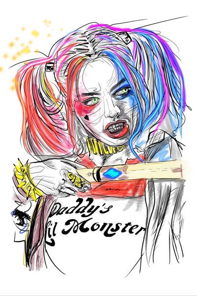 Harley Quinn custom design #harleyquinn #suicidesquad #puddin #dccomics #dc #suicidesquad2 #portraittattoo #beautyofimperfection #abstract #abstracttattoo #trashtattoo #witchinghour #witchinghourtattoo #skinart #skinartmag #inkspiration #ink #customtattoo #customdesign #jaredleto #margotrobbie #bobbygreyart #bobbygrey #inspire #daddyslilmonster #abstractrealism #amsterdam