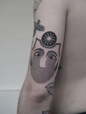 Tattoo by Nico Jacoby aka Nicobone #NicoJacoby #Nicobone #blackwork #linework #surreal #strange #graphicart #abstract #eyes