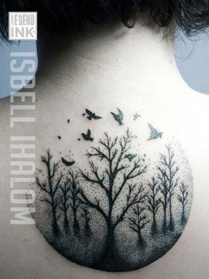 #isbellihalom #ink #trees #dotwork #blackwork #backpiecetattoo #birds #tattoo #blackandwhitetattoo #blackandwhite #legendinksf #sleevetattoo #caloforniatattoo #sanfranciscotattoo #besttattoos #bealegend #legendink #sanfrancisco