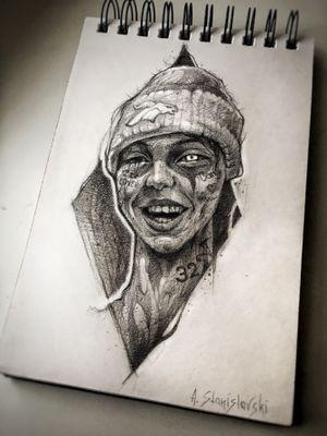 Lil Xan sketch🖤 #sketch #art #tattoo