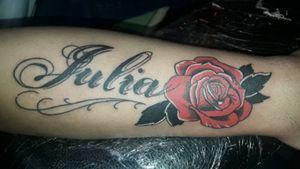 #rosa #rosas #rose #leteringtattoo