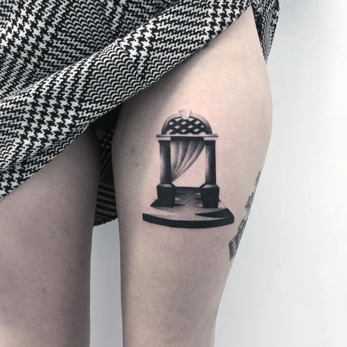 Tattoo by Thomas aka badluckveteran #Thomas #badluckveteran #portaltattoos #portaltattoo #portal #space #spacetravel #door #magic #surreal #illustrative