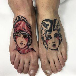 Tattoo by Richeler #Richeler #portraittattoos #portraittattoo #portrait #face #ladyhead #color #traditional #lady