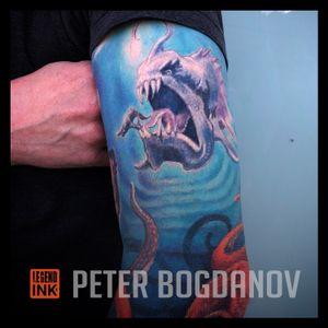 Underwater Scene #peterbogdanov #bealegend #legendink legendink.com