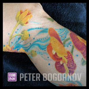 Paramedical Tattooing - these flowers have been tattooed over a skin condition. to help cover and hide the scars below.