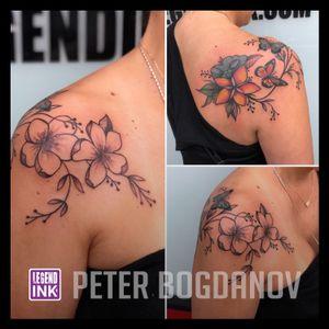 Simple Flowers #peterbogdanov #bealegend #legendink legendink.com