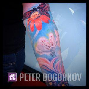 Butterfly Flowers #peterbogdanov #bealegend #legendink legendink.com