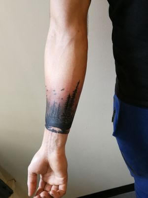 Forrest black and gray tattoo