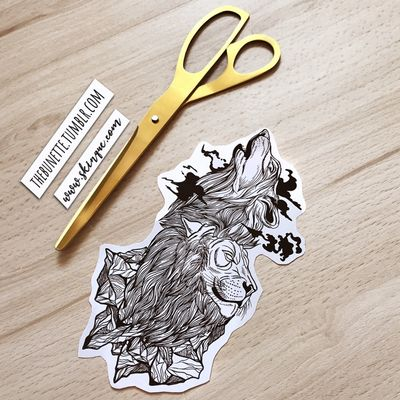 Linework wolf and lion. More designs: www.skinque.com or follow me on Instagram for new designs! @thebunettedesigns #blackwork #black #blackandgrey #animal #wolf #lion #nature #linework #abstract #mountains #mountain #sketch