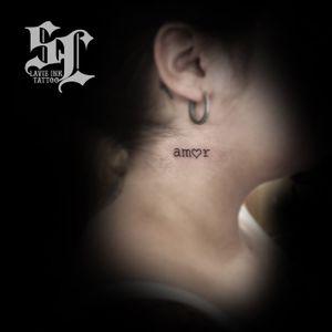 Amor #amor #love #heart #tattooartist #necktattoo