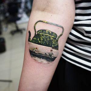 Teapot with korean movie