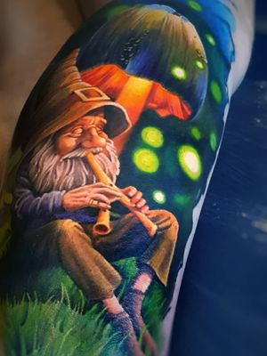 #tattoo #fullink #color #mushrooms #mushroom #mushroomtattoo #dwarf #fullcolortattoo #colorrealismtattoos #BoldTattoos #realism #realismo #colorida