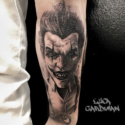 #tattoooftheday #realism #realistic #Joker #jokertattoo #portait #Tattoodo #tattooportrait #clown #tattooshop #tattooitalia
