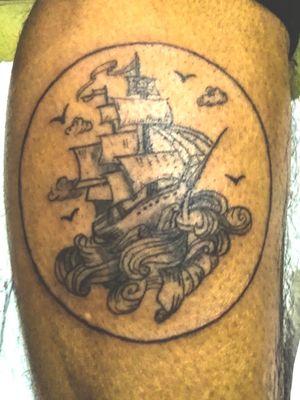 Barco #creacionestonos #tattoos #tattooworld #intenze