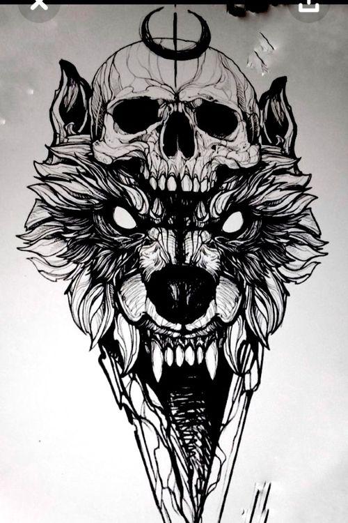 #wolf #wolftattoo #tattoowolf #skullwolf #skull #skultattoo #wolfskull #graphicswolf #fredaooliveira