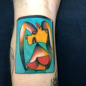Tattoo by Javier Bergasa aka SINSENTIDO10 #JavierBergasa #SINSENTIDO10 #picassotattoos #picassotattoo #picasso #fineart #painting #art
