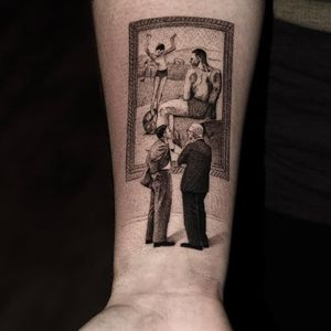 Tattoo by Checho aka checho23tattoo #Checho #Checho23tattoo #picassotattoos #picassotattoo #picasso #fineart #painting #art