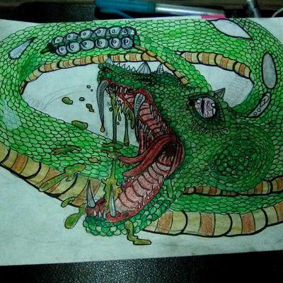 #snake #reptile #vibrant #color #neotraditional #vivid #kodysheeran #illustration #rattleanake #realism #poison #toxic #Dangerous #deadly #danger #venom #animals #fangs #bite
