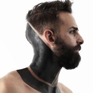 Tattoo by Roxx #Roxx #favoritetattoos #favorite #favoritepiece #best #blackwork #blackfill #sacredgeometry #tribal #neckpiece #necktattoo #headtattoo #scalptattoo