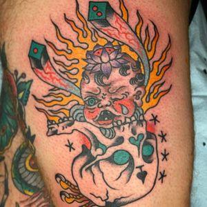 Tattoo by Chad Koeplinger #ChadKoeplinger #weirdtattoos #weird #strange #surreal #unique #different