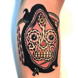 Tattoo by Teide #Teide #weirdtattoos #weird #strange #surreal #unique #different