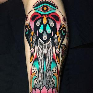 Tattoo by David Troika #DavidTroika #weirdtattoos #weird #strange #surreal #unique #different