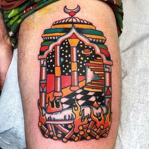 Tattoo by Robert Ryan #RobertRyan #weirdtattoos #weird #strange #surreal #unique #different