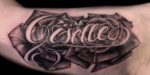Sat like a rock, Thanks arbi! #giselle #tattoos #girlswithtattoos #ink #inked #script #losangeles #artist thanks for looking #juliustattooer