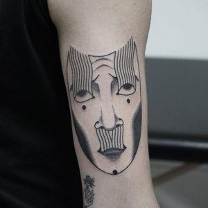 Tattoo by Nicobone #Nicobone #NicoLandry #weirdtattoos #weird #strange #surreal #unique #different